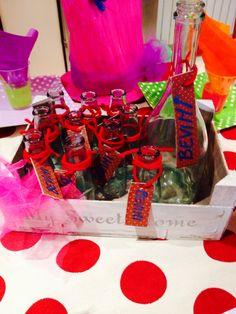 Festa a tema Alice nel paese delle meraviglie Bottigliette bevimi!!