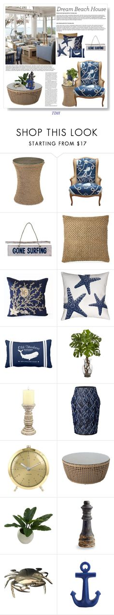 """""""Beach House"""" by talvadh ❤ liked on Polyvore featuring interior, interiors, interior design, home, home decor, interior decorating, NOVICA, Ralph Lauren, Thumbprintz and Nearly Natural"""