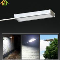 48LED Waterproof Microwave Radar Motion Sensor Solar Light 720LM Street Outdoor Wall Lamp Security Spot Lighting #Affiliate