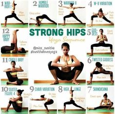 Yoga Sequence - Yoga for Strong Hips #BenefitsofYogaforWomen