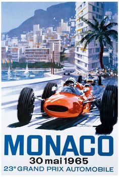 Promotional poster for the 1965 Monaco grand prix