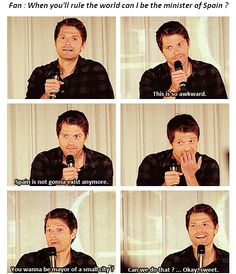 Meanwhile, Misha. He's so completely adorable. I want to be his friend.
