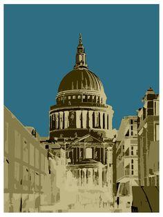 POP Art, Gherkin, Saint Pauls, London Eye, Online Art Gallery, Big Fat Arts, BFA Gallery, Czar Catstick, Baxter Cane