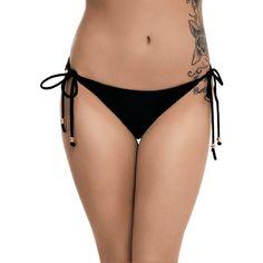 Hot Topic Black & Gold Skull Swim Bottoms ($17) ❤ liked on Polyvore featuring swimwear, bikinis, bikini bottoms, cut out bikini top, gold bikini bottoms, swim bikini bottoms, beaded bikini and tankini tops