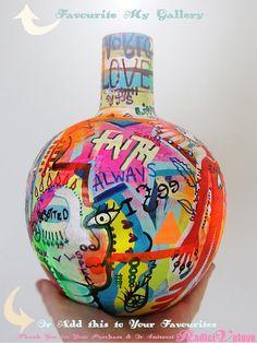ABSTRACT VASE Graffiti Ceramic art Sculpture Love by RadiciVoLove
