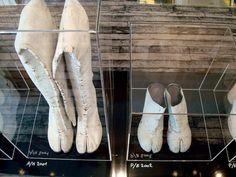 "Maison Martin Margiela: ""Tabi Shoe-Maker"", an installation of 48 seasons of Tabi shoes"