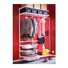 Recibidor con armario zapatero banco con almacenaje para - Estanteria algot ikea ...