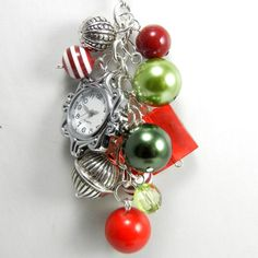 Christmas Necklace with Detachable Beaded by Blingtimeaccessories, $30.00