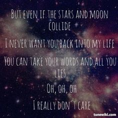 """-- #LyricArt for """"Really Don't Care (feat. Cher Lloyd)"""" by Demi Lovato"""