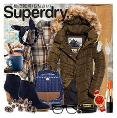 """""""The Cover Up – Jackets by Superdry: Contest Entry"""" by retrogirl ❤ liked on Polyvore featuring Polo Ralph Lauren, Bobeau, Superdry, Bobbi Brown Cosmetics, Versace, Susina, Boohoo, ZeroUV, McQ by Alexander McQueen and Knud Nielsen Company"""