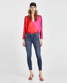 RIPPED SKINNY JEANS-NEW IN-WOMAN-NEW COLLECTION | ZARA Indonesia