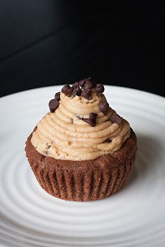 Double Chocolate Cookie Cup filled with Peanut Butter Cookie Dough