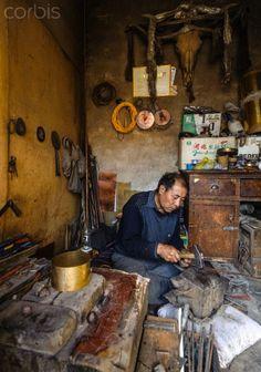 Tibetan craftsman