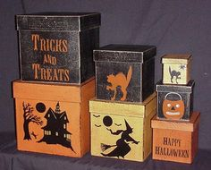 Halloween Box Decorations Traditional Halloween Shaker Boxes  Halloween  Pinterest  Box