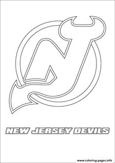 New Jersey Devils Logo Nhl Hockey Sport Coloring Pages Printable And Book To Print For Free Find More Online Kids Adults Of