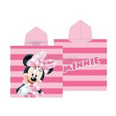 Toalla Capucha Minnie Mouse Rayas