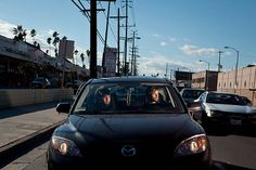 Portraits of Strangers in Cars Illuminated by Off-Camera Lighting