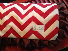 Chevron Minky Baby Blanket Blanket SALE