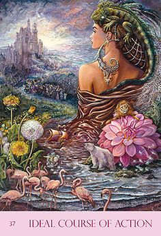"""""""Ideal Course of Action"""" Oracle Cards par Josephine Wall"""