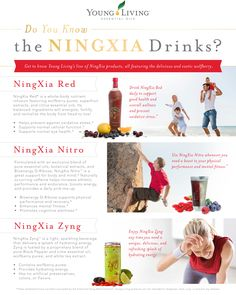 Young Living Essential Oils: NingXia Red, Nitro and Zyng! All-natural, no artificial flavors or dyes! Infused with pure essential oils and plant-based ingredients! Essential Oils For Kids, Essential Oil Uses, Young Living Essential Oils, Essential Oil Diffuser, Ningxia Red, Young Living Supplements, Young Living Distributor, Living Essentials, Young Living Oils