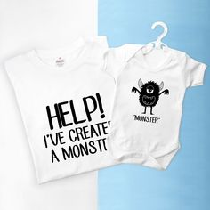 Personalised Me And My Little Monster Set by TheLittleBoysRoom, the perfect gift for Explore more unique gifts in our curated marketplace.