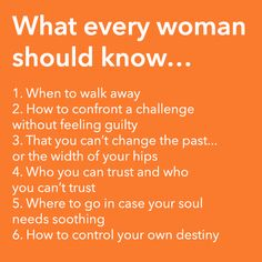 What Every Woman Should Know!