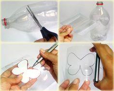 passo1 borboletas garrafa pet
