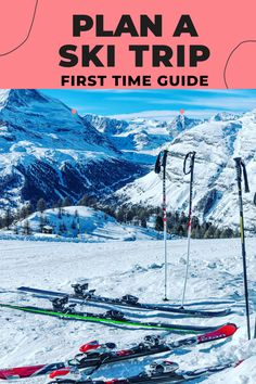 Are you excited to plan a ski trip? If this is your first time skiing? We have you covered! This skiing for beginners guide will provide you with all the information you need to prepare for and plan a ski trip. The following information is designed for beginner skiers. Let's explore all of your options and plan an amazing ski trip. Ski Lift Tickets, Ski Rental, Winter Vacations, Skiers, Best Places To Travel, Winter Activities, Park City, Rocky Mountains, Winter Wonderland