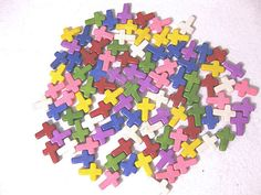 20PCS 12x16mm Turquoise Cross 8 colors for choice by ministore, $3.50