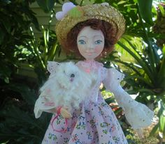 Art Doll Anna.Lady with a Dog by Famous Russian by irinaalek