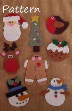 PATTERN - Prim Linz 8 Felt Christmas Toppers Pattern | eBay