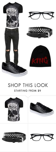 """""""Scene (guys)"""" by lostintheworld496 ❤ liked on Polyvore featuring RtA, Skechers, Rust Mood, EyeBuyDirect.com, Dolce&Gabbana, men's fashion and menswear"""