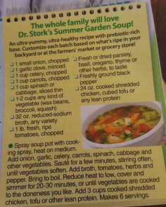 Dr. Stork's Flat Belly Soup