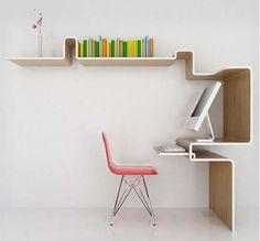 en muros y escritorios