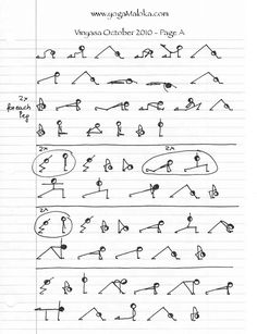 Warming Vinyasa - stick people yoga. :) #yoga #fitness
