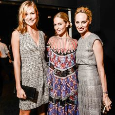 Karlie Kloss, Poppy Delevingne, and Lauren Santo Domingo