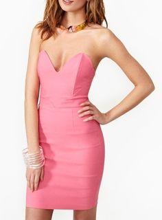 A Strapless Dress