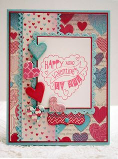 Stampin' Up! Perfectly You heart handmade valentine