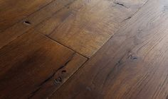 Chateau Antique reclaimed French oak flooring planks carefully milled from century-old reclaimed French oak beams. Once we slice these planks from massive beam stock, VE goes through a rigorous process in which we undulate and sculpt the surface, heavily brush each bord and the...