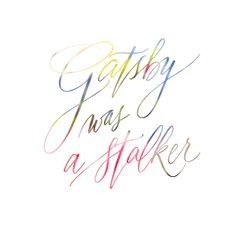 Color Your Lettering - Gatsby Style!