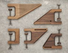 tool envy... beautiful wood clamps or art?