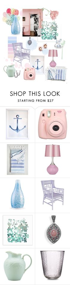 """""""pastel home decor - polyvore color challenge"""" by nbeaudry on Polyvore featuring interior, interiors, interior design, home, home decor, interior decorating, Martha Stewart, Universal Lighting and Decor, BillyTheTree and Lenox"""