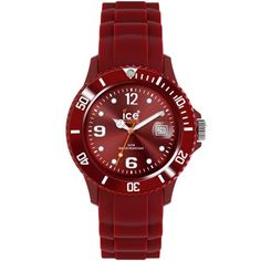 Ice-Watch Ladies Silicone Maroon Strap Watch
