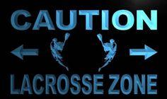 Caution Lacrosse Zone Neon Light Sign