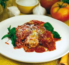 Fiori di zucca al forno ripieni di ricotta Ricotta, Curry, Anna, Meat, Chicken, Cooking, Ethnic Recipes, Food, Vegetarian
