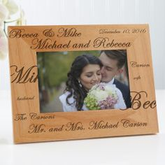 personalized wedding picture frames celebrate that theyre now officially a mr and - Engraved Photo Frames