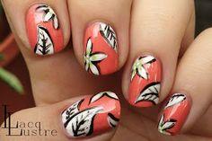 Graphic Floral Nail Art a la Mr. Candiipants