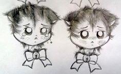 Sad & Shy Kitten @luamiki  #kitten #kittens #cat #babycat #neko #gatinho #gato #drawing #draw #draft #sketch #desenho