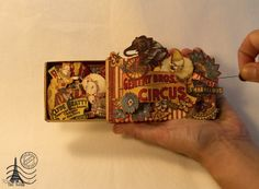 Welcome to the Cirque!!! Altered box of matches by Tati Scrap! Love this altered matchbox #graphic45