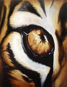 Tigers Eye Painting - Tigers Eye Fine Art Print